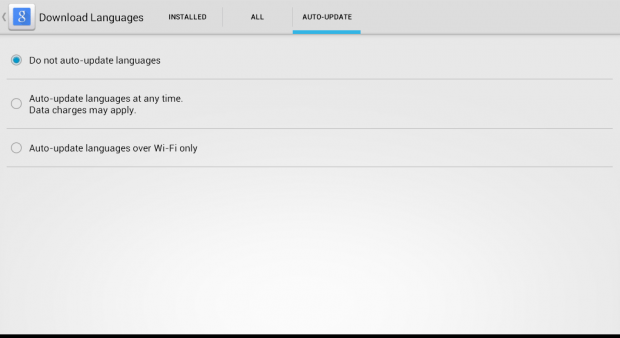 disable auto update for voice languages b