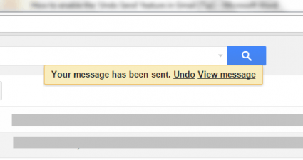 enable undo send option Gmail c