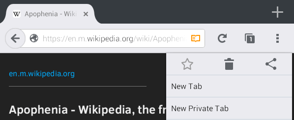switch to Reader View Firefox Android c