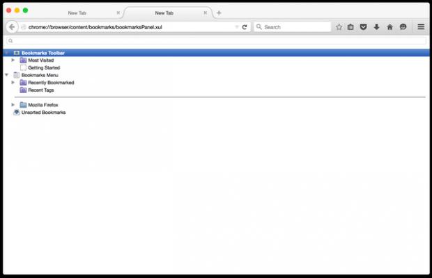 New Tab Bookmarks Firefox b
