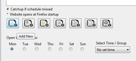 automatically open pages at specific days Firefox b