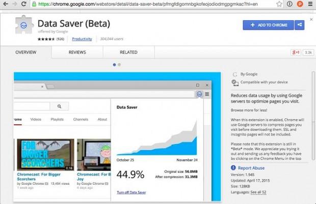 Data Saver beta