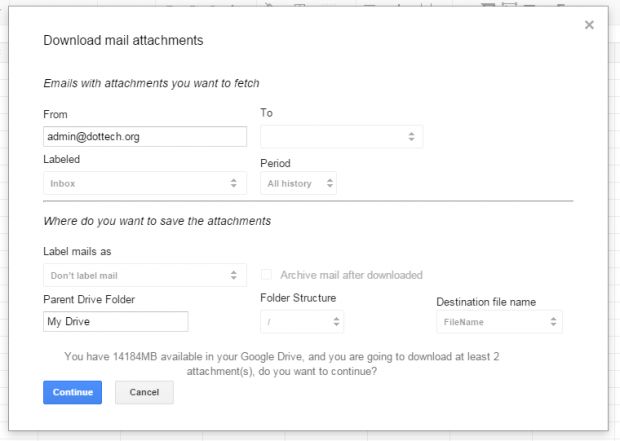 download Gmail attachments at once c