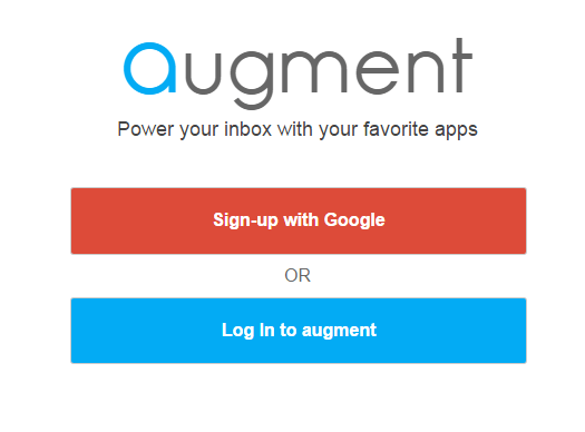 log in with Augment