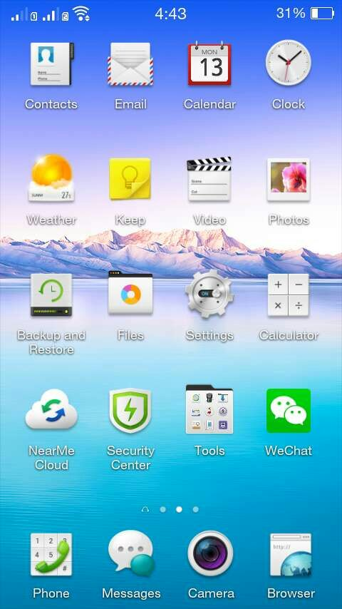 screenshots Oppo phones