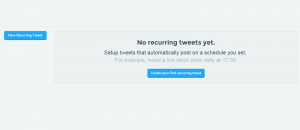 set recurring tweets Twitter