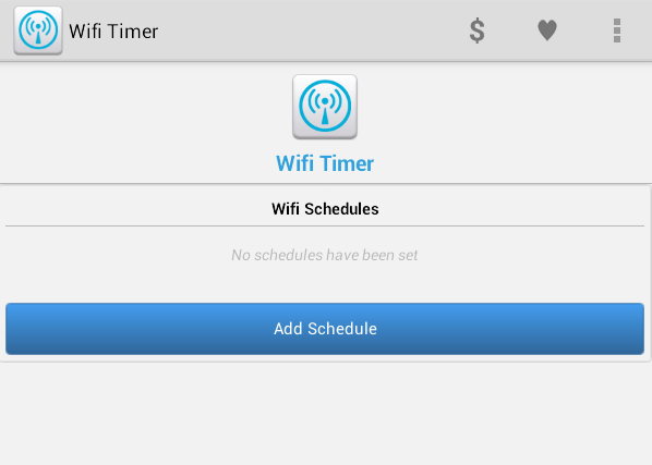 set wi-fi timer Android
