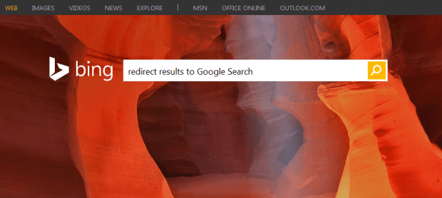 Bing to Google Search Firefox