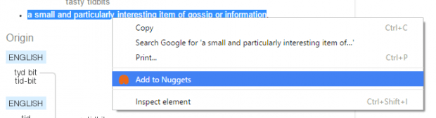Nuggets for Chrome c