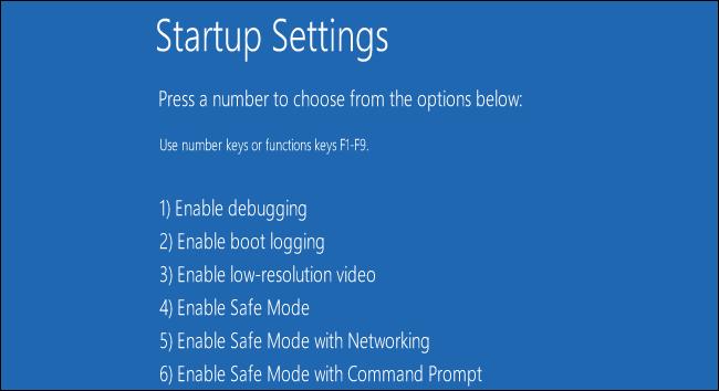 Startup-Settings