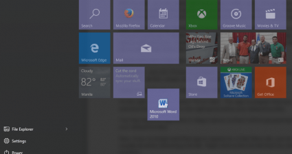 custom live tiles Windows 10 c