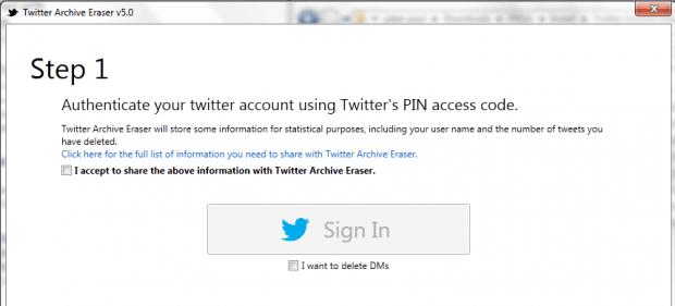 delete tweets Twitter Archive Eraser