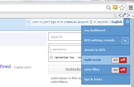 reddit night mode chrome b