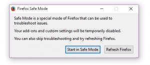 run Firefox in safe mode b