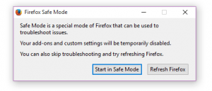 run Firefox in safe mode b