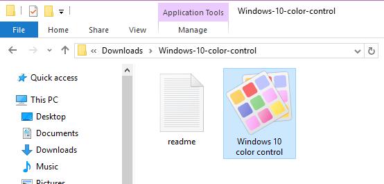 set custom window border color Windows 10