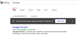Microsoft recommends using Edge browser