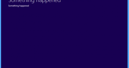 Windows 10 something happened