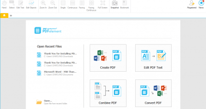 PDFelement for Mac Windows Wondershare