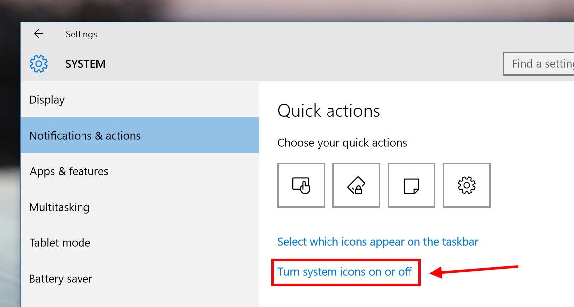 Windows 10 vpn system tray