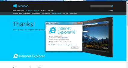 IE Windows 10