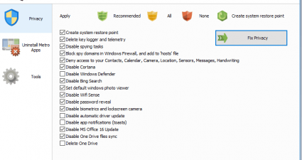 Privacy Protector Windows 10 screenshot a