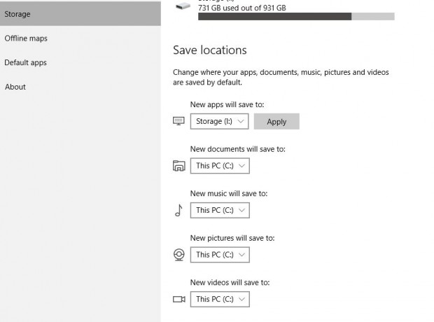 Windows 10 Save Locations