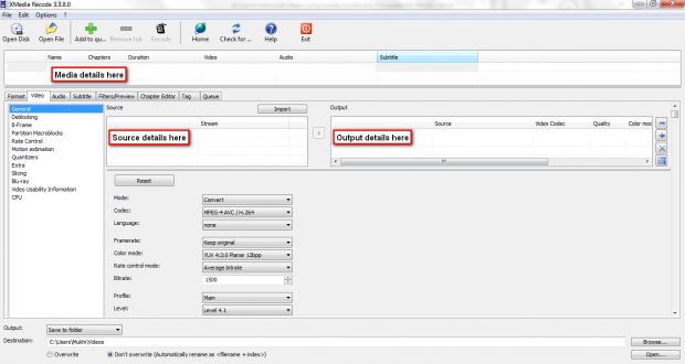 XMR Video tab